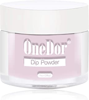 OneDor Nail Dip Dipping Powder – Acrylic Color Pigment Powders Pro Collection System, 1 Oz. (05 - Light Pink)