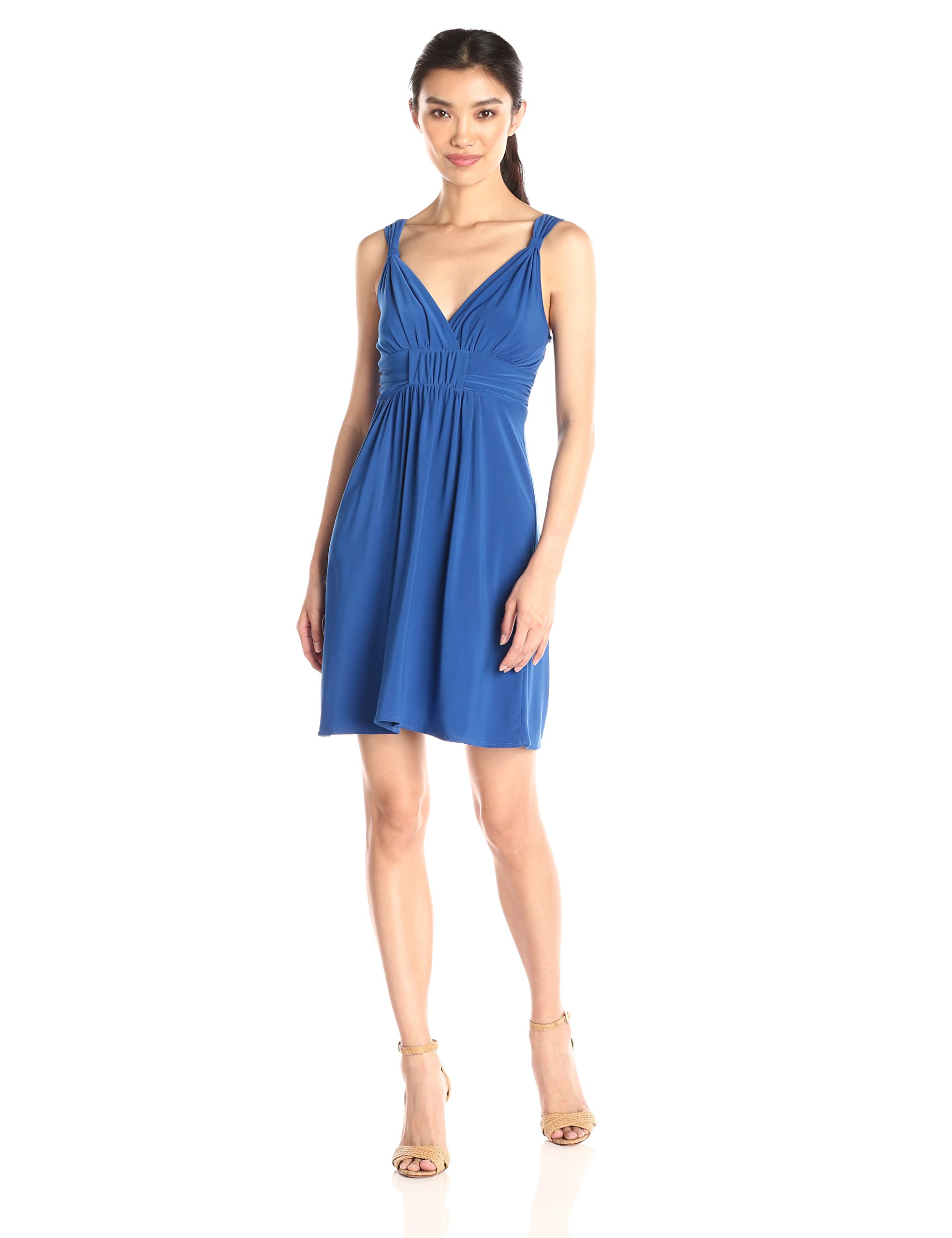 Available at Amazon: Star Vixen Women's Sleeveless Knot-Front Surplice Dress