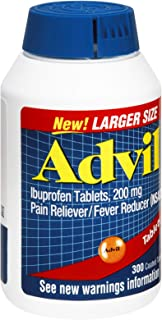 Advil Ibuprofen 200mg Coated Tablets , 300 CT (Pack of 3)