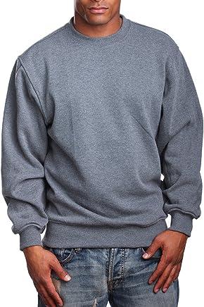 83d8889183 PRO 5 Mens Heavy Weight Fleece Crewneck Pullover