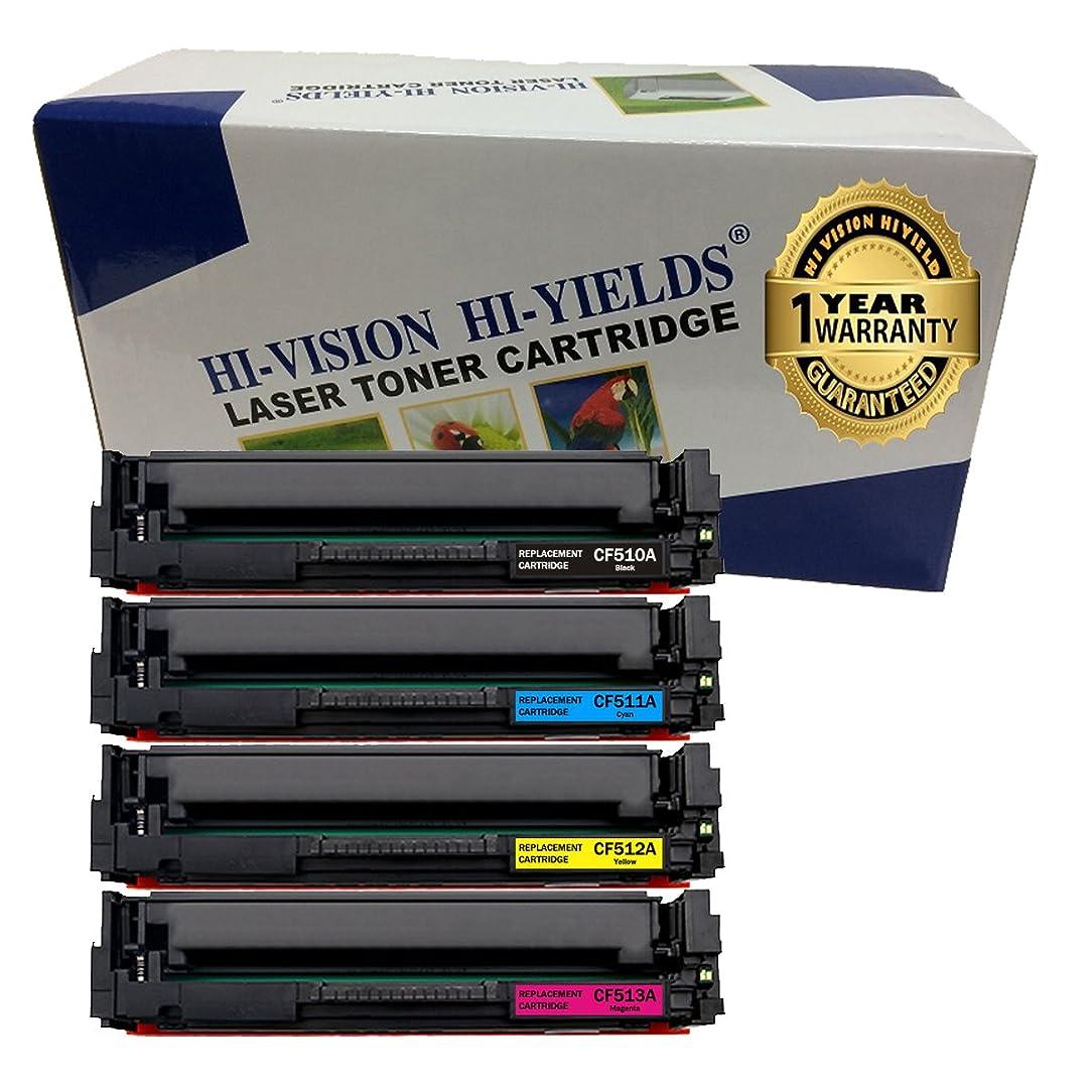 HI-VISION HI-YIELDS Compatible Toner Cartridge Replacement for HP CF510A  ( Black, Cyan, Yellow, Magenta , 4 pk )