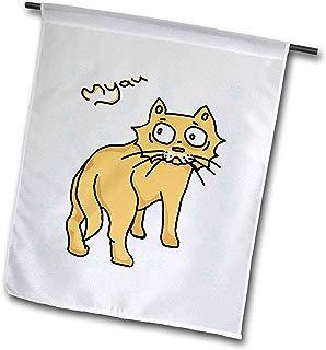 3dRose Warya - Animals. - Ginger Cat Say Meou - 12 x 18 inch Garden Flag (fl_299938_1)