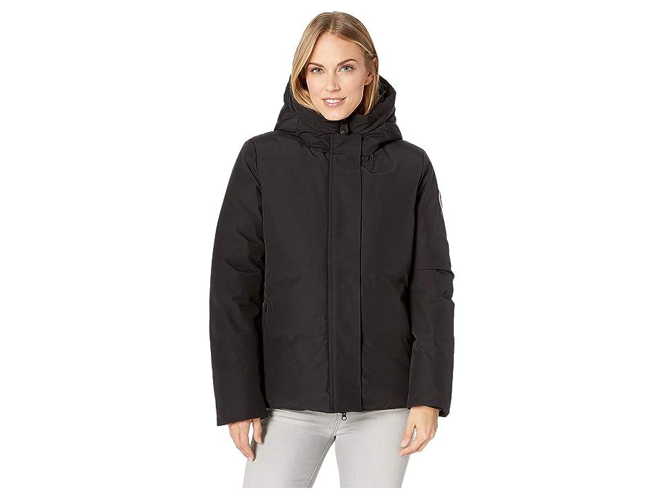 Save the Duck Short Coat with Faux Fur (Black) Women
