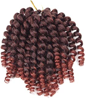 3pcs/Pack Wand Curl Crochet Braids Synthetic Hair Extensions 8inch Jamaican Bounce Braids Ombre Havana Mambo Braiding Hair (1B/350)
