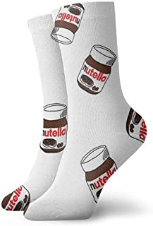 VEVJK Cozy Warm Winter Socks Nutella Cotton Fun Colorful Dress Socks Christmas Casual Socks Holiday Cute Cartoon Socks