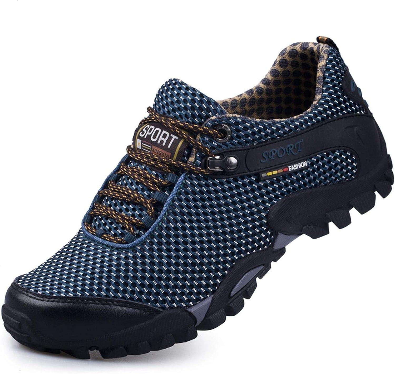 HANBINGPO Summer Outdoor Hiking shoes Men Breathable mesh Camping Climbing Trekking shoes Men Tactical Hiking shoes Men Hiking Sneakers