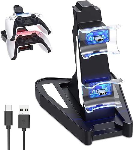 Chargeur Manette Ps5 Pour Playstation 5 Console- USB-C Station de Chargement Ps5 Accessoire Ps5 Pour Manette sans Fil...
