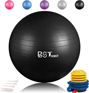 Exercise Ball,Anti-Burst Slip-Resistant Extra Thick Balance Stability Yoga Ball(45-85cm),Supports 2000lbs with Quick Foot ...