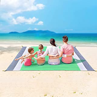Sand Free Beach Blanket, Extra Large Waterproof Beach Mat-Lightweight Quick Drying Heat Resistant Outdoor Picnic mat for T...