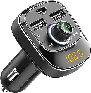 comprar comparacion Cocoda Transmisor FM Bluetooth Coche Manos Libres, Inalámbrico Reproductor MP3 Mechero Coche con Dual USB & Tipo C Puerto ...