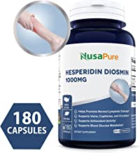 Diosmin - Hesperidin 1000mg 180caps (Non-GMO, Gluten Free) Helps Promote Lymphatic Drainage, Supports Veins, Capillaries and Circulation