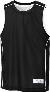 Youth PosiCharge Mesh Reversible Sleeveless T-Shirt YT555 Black/White