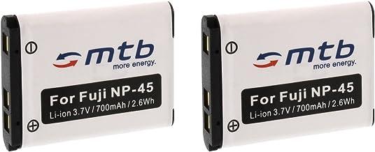 2X Batería NP-45 para FujiFilm FinePix XP50, XP60, Z10fd, Z20fd, Z30, Z31, Z33WP. (Ver la descripción)
