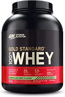 Optimum Nutrition Gold Standard 100% Whey Protein Powder, Chocolate Mint - 2.27 Kilograms
