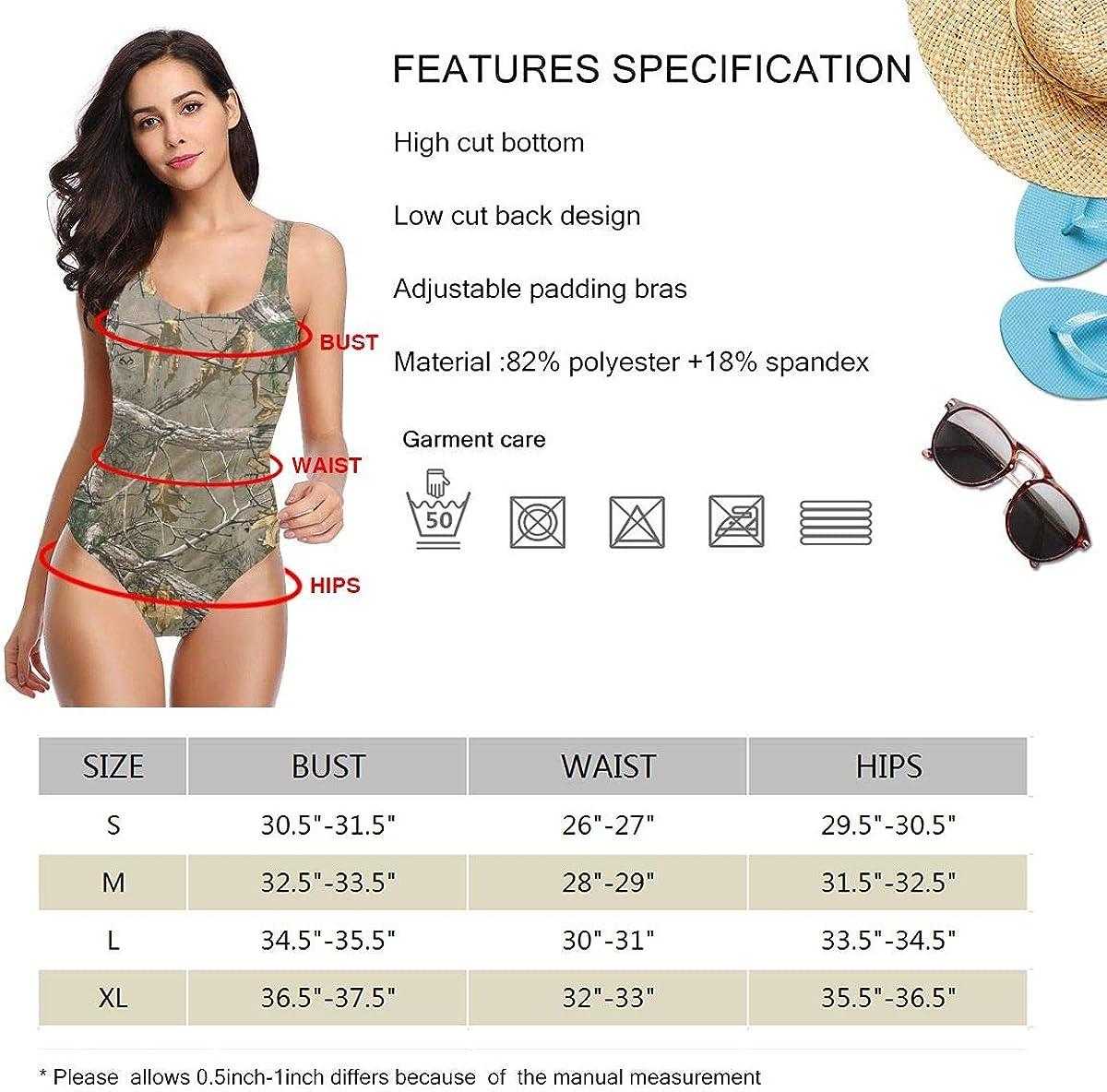 Realtree Womens One Piece Swimsuit Swimwear