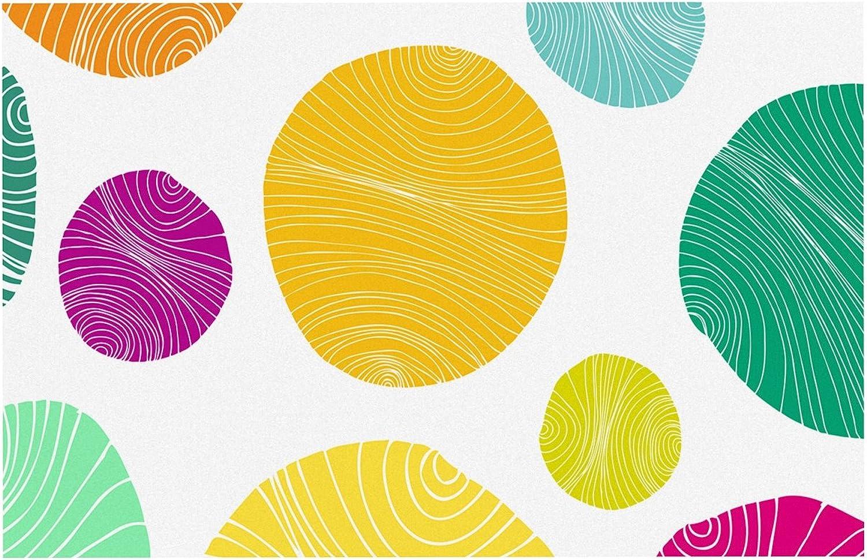 KESS InHouse AR1016ADM02 Anchobee Eolo Multicolor Circles Dog Place Mat, 24 x15