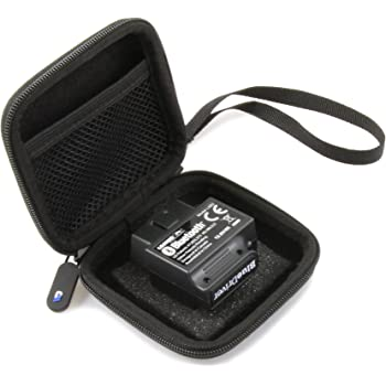 CASEMATIX Car and Auto Mini Carry Case Compatible with BlueDriver Bluetooth Professional OBDII OBD2 Scan Tool Monitor