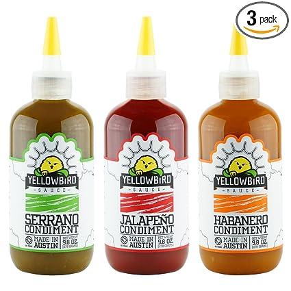 Yellowbird Hot Sauce Combo (9.8 Oz 3-Pack)