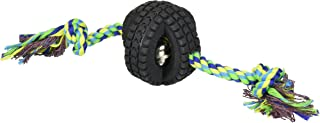 Pet Qwerks X-Tire Ball Interactive Dog Toy - Rugged Tires with a Sound Ball in The Center, Interactive Toys That Make Noise, Toys for Boredom | Best for Light & Moderate CHEWERS