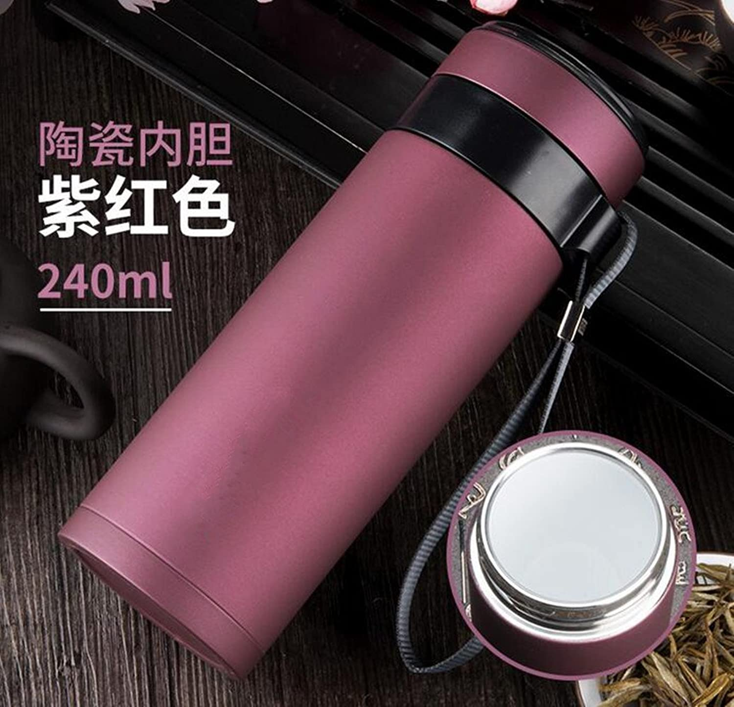 Water Cup Purple Sand Cup Ceramic Liner HighGrade Tea Cup Portable Business Eco Cup