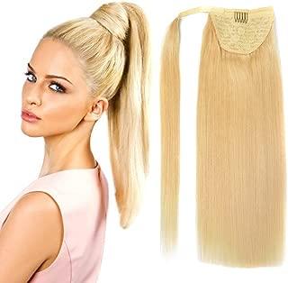 wrap around ponytail human hair piece