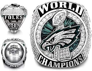 52th 2017-2018 Philadelphia Eagles MVP Foles 9# Championship Ring Size 8~14 (11)