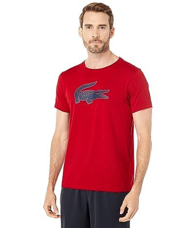 Lacoste Short Sleeve Solid Color Crocodile Logo Tee