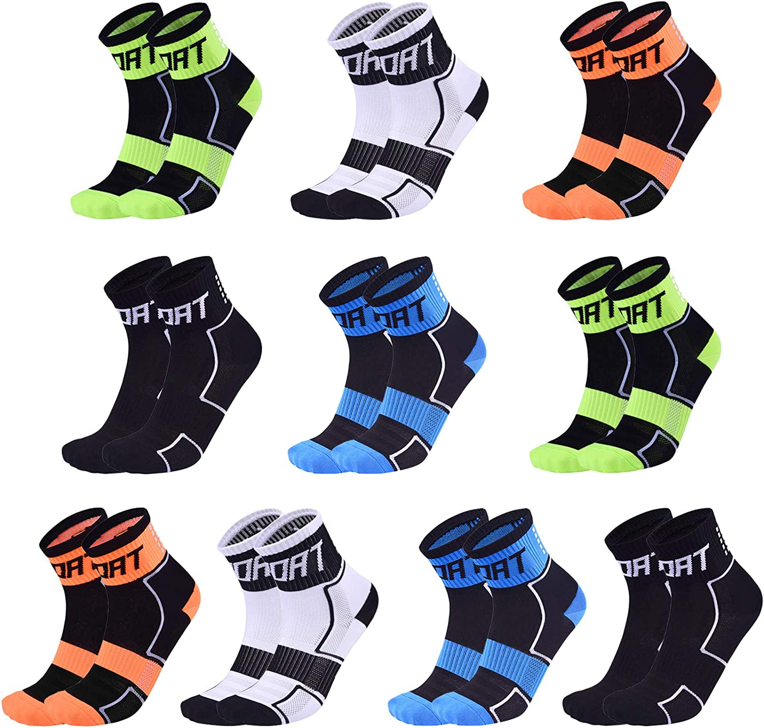 5 10Pack Sports Brand new Large special price !! Cycling Socks Smell Colorful Ankle Anti Running