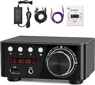 Facmogu Mini Bluetooth Power Amplifier, 100W BT 5.0 Digital Power Audio Amplifier - Wireless Receiver Stereo Home Car Audi...