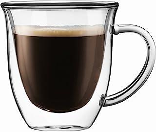 JoyJolt Serene Double Walled Insulated Glasses Coffee Mug (Set of 2) 7.4 Ounces
