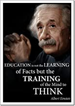 Albert Einstein quote poster laminated Young N Refined (16x20)