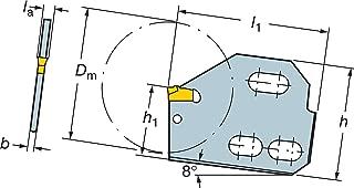 Sandvik Coromant, 151.2-56-50-8, Steel T-Max Q-Cut Blade for Parting, Neutral Cut, No Coolant, 90 deg Cutting Edge Angle