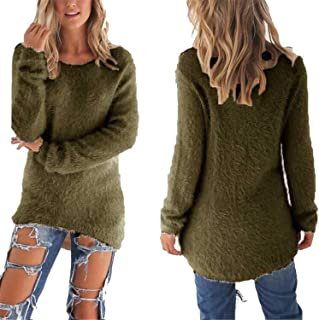 Spring Autumn Sweater Women Loose Long Sleeve Solid Warm Pullovers Tops