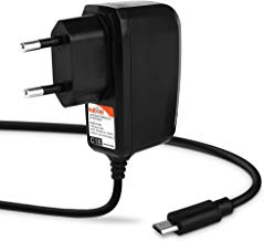 subtel® Cargador - 1.2m (2A) Compatible con bq Edison 3/3 Mini, Aquaris M10 / E10 (5V / Micro USB) Cable de Carga Negro