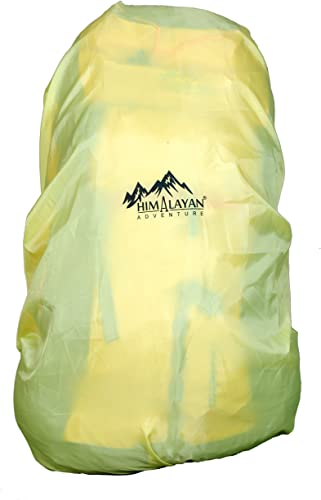Himalayan Adventure Raincover 60 L Lightweight Waterproof Backpack Cover For Travel Bag Yellow