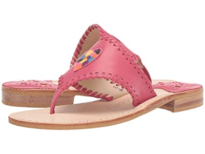 Jack Rogers Kennedy Embroidered Icon Sandal (Magenta) Women