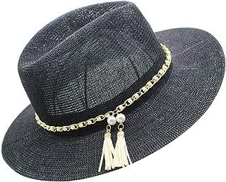 Panama Hat Women Straw Fedora Fmale Sunhat Women Summer Beach Sun Visor Jazz Trilby Cap