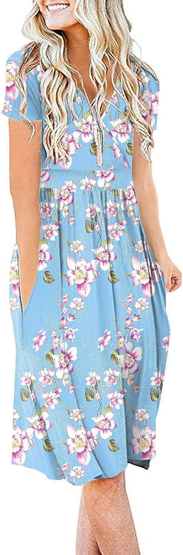 DB MOON Women Summer Casual Max 55% OFF Short Empire Dr Waist Dresses Ranking TOP1 Sleeve