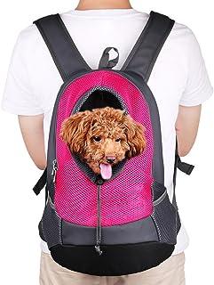 NHSUNRAY Pet Carrier mochila para pequeños perro gato Puppy(8lbs Max) On-the-Go Travel Pet frente parte posterior bolsa transpirable suave malla Pup Pack 42 * 38 * 20 cm