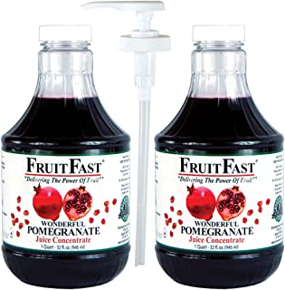 Pomegranate Juice Concentrate by FruitFast | 128 Day Supply Non GMO Gluten Free 100% Pomegranate Juice Concentrate with Ad...
