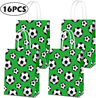 Party Favor Bags for Soccer Birthday Party Supplies, Party Gift Goody Treat Candy Bags for Soccer Party Favors Decor for Soccer Party Girls Kids - 16 PCS