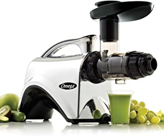 Omega NC900HDC Juicer Extractor and Nutrition Center Creates Fruit Vegetable and Wheatgrass Juice Quiet Motor Slow Mastica...