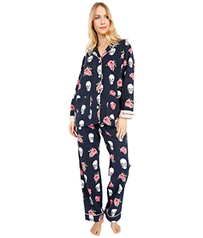 P.J. Salvage Stop and Smell The Roses Pajama Set (Navy) Women