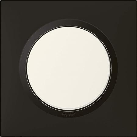 Legrand LEG600978 PL 1P Deco Style Plaque Dooxie Ronde 1 Poste Finition Effet INOX bross/é