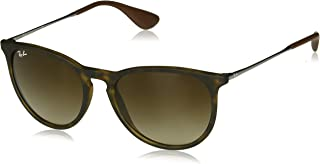 RAY-BAN Erika Square Sunglasses, Tortoise/Brown Gradient, 54 mm