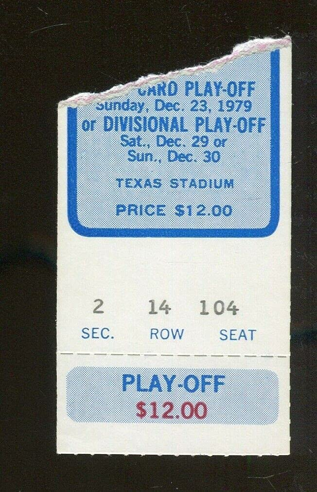 2021 autumn and winter new 1979 NFC Divisional Playoff Game Ticket v 12 Rams New York Mall Cowboys Tex 30