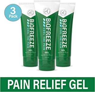 Biofreeze Pain Relief Gel, 4 oz. Tube, Pack of 3 (Packaging May Vary)