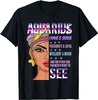Aquarius Zodiac T-Shirt for Women Birthday Gift T-Shirt