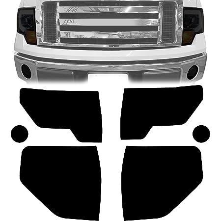 35/% Light Smoke Precut Vinyl Tint Cover for 2009-2014 Ford F150 Headlights