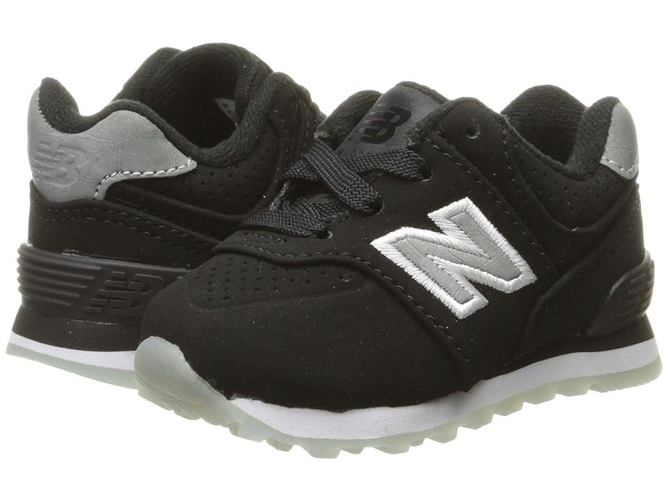 New Balance Kids KL574v1 Ice Rubber (Infant/Toddler) (Black/Black) Boys Shoes